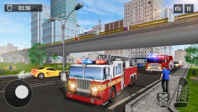 冬季救援消防车游戏手机版下载